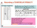 recording a team delay penalty