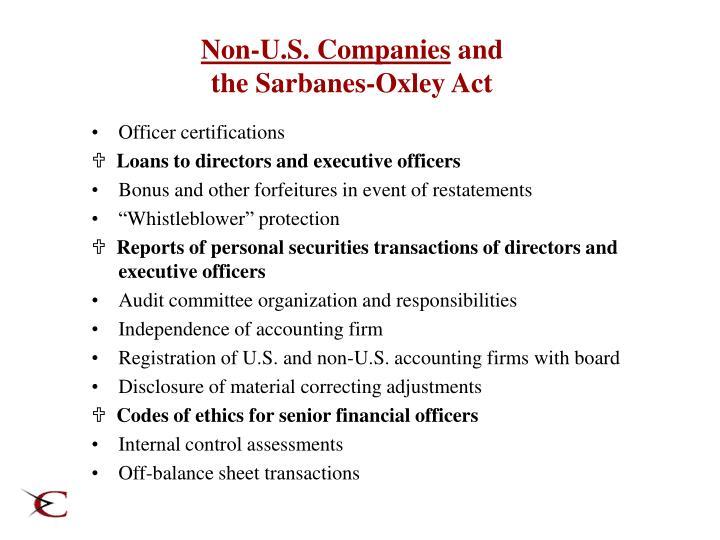 Non-U.S. Companies