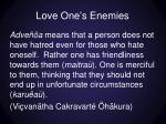 love one s enemies