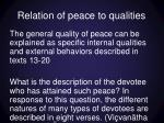 relation of peace to qualities1