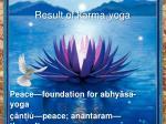 result of karma yoga