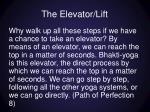 the elevator lift