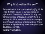why first realize the self1