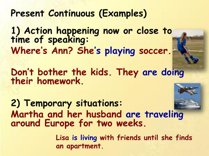 Present Simple vs Present Progressive ESL Grammar Game