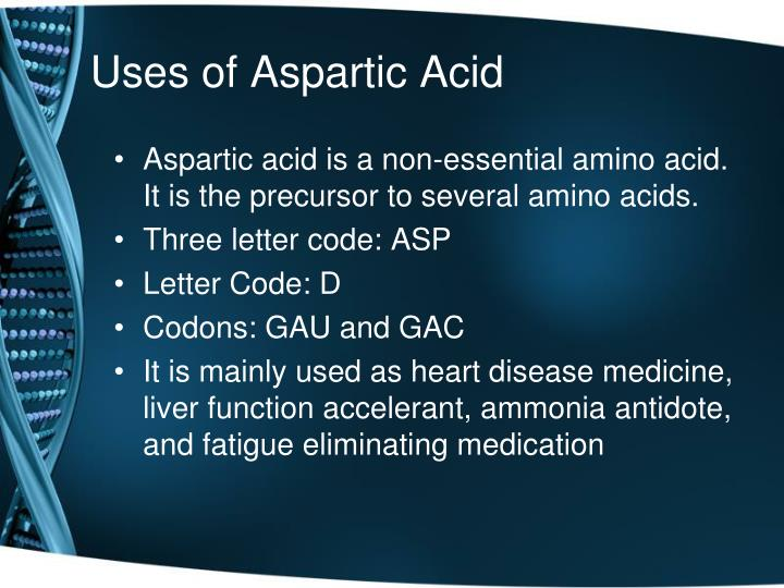 Uses of Aspartic Acid