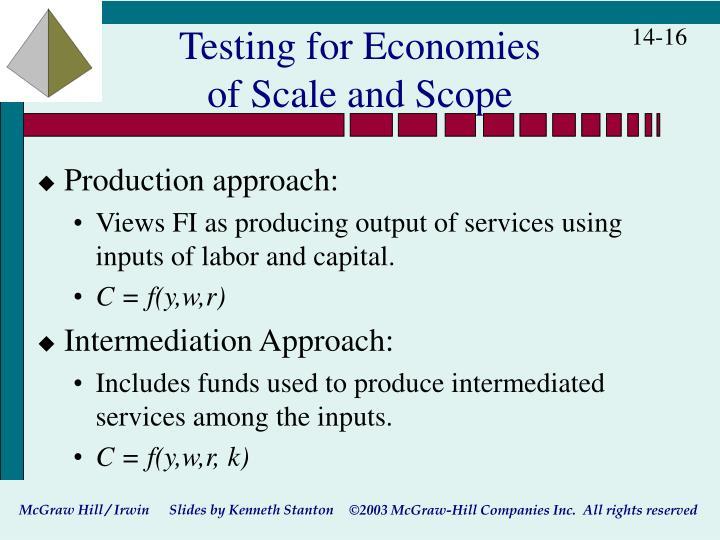 Testing for Economies