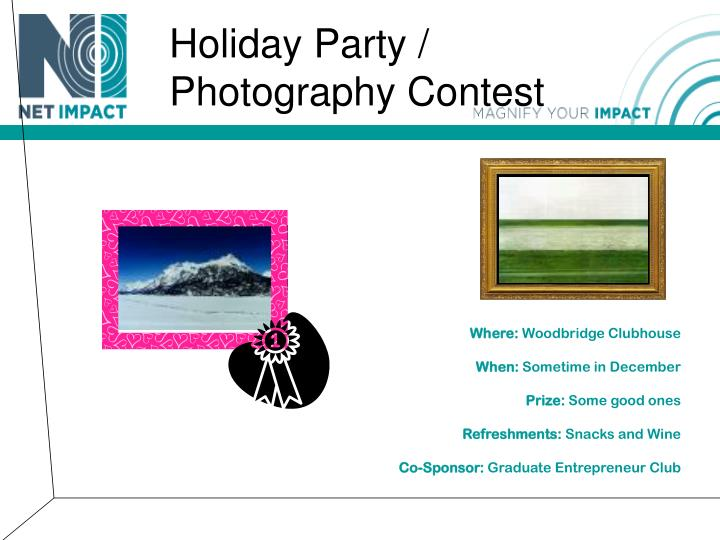 Holiday Party / Photography Contest