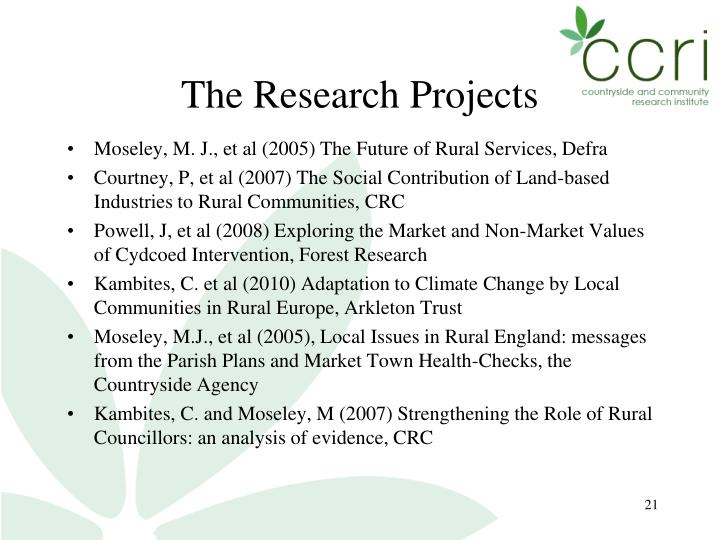 The Research Projects