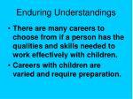 enduring understandings14