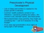 preschooler s physical development