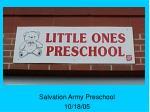 salvation army preschool 10 18 05
