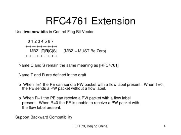 RFC4761 Extension
