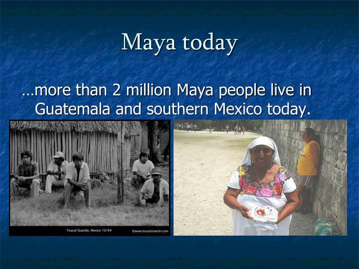 Maya today