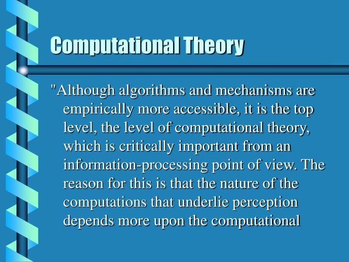 Computational Theory