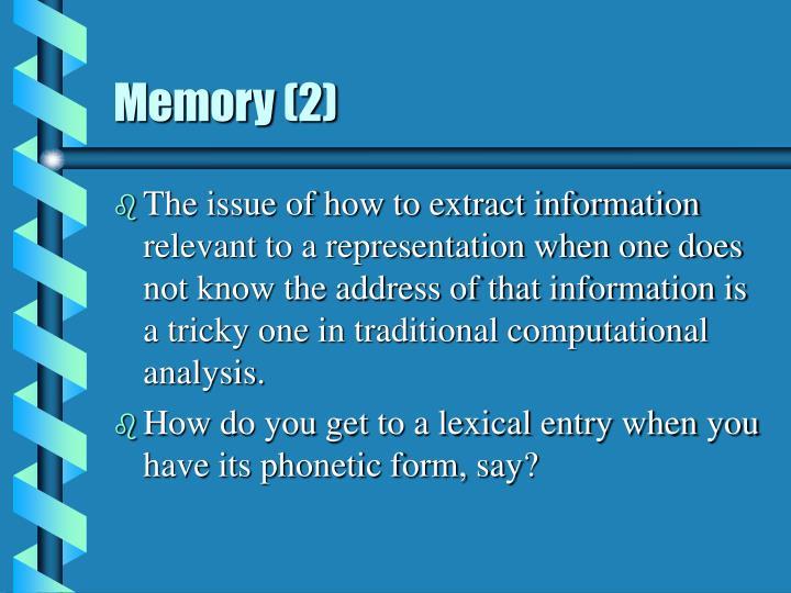 Memory (2)
