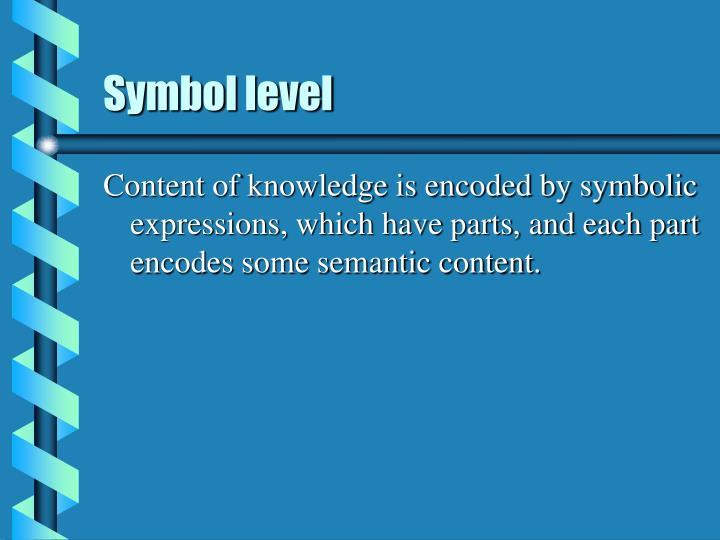 Symbol level