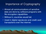 importance of cryptography