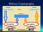 without cryptography14
