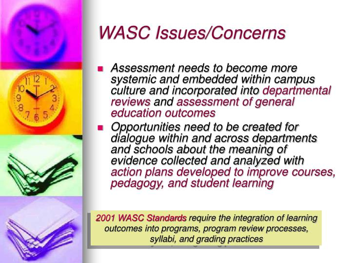 WASC Issues/Concerns