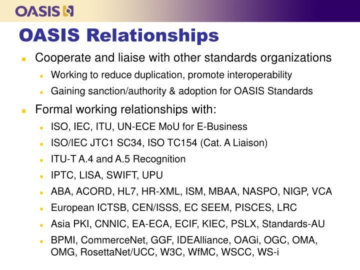 OASIS Relationships