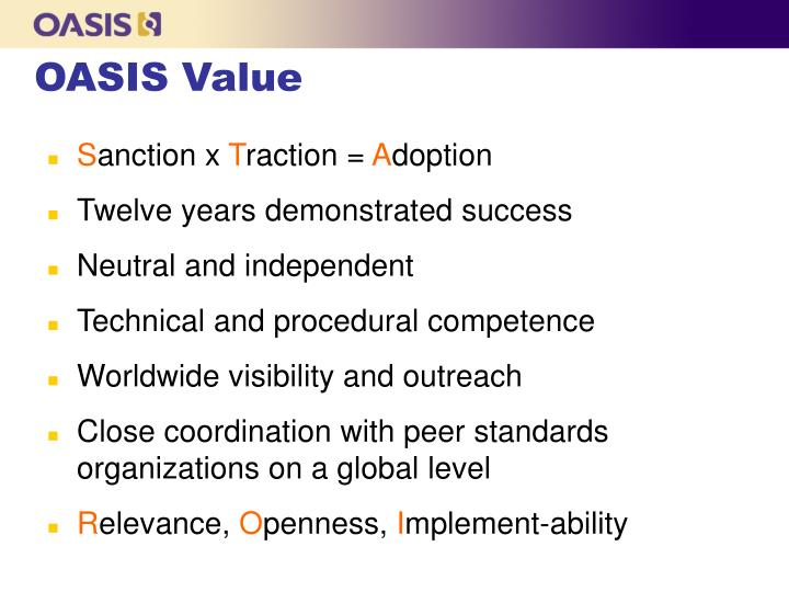 OASIS Value