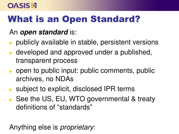 What is an Open Standard?