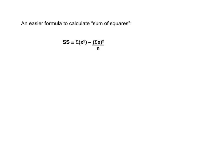 """An easier formula to calculate """"sum of squares"""":"""