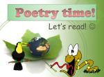 poetry time
