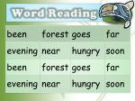 word reading