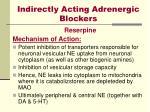 indirectly acting adrenergic blockers
