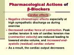 pharmacological actions of blockers
