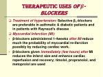 therapeutic uses of blockers