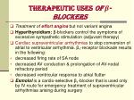 therapeutic uses of blockers2