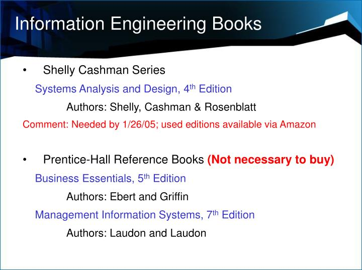 Information Engineering Books