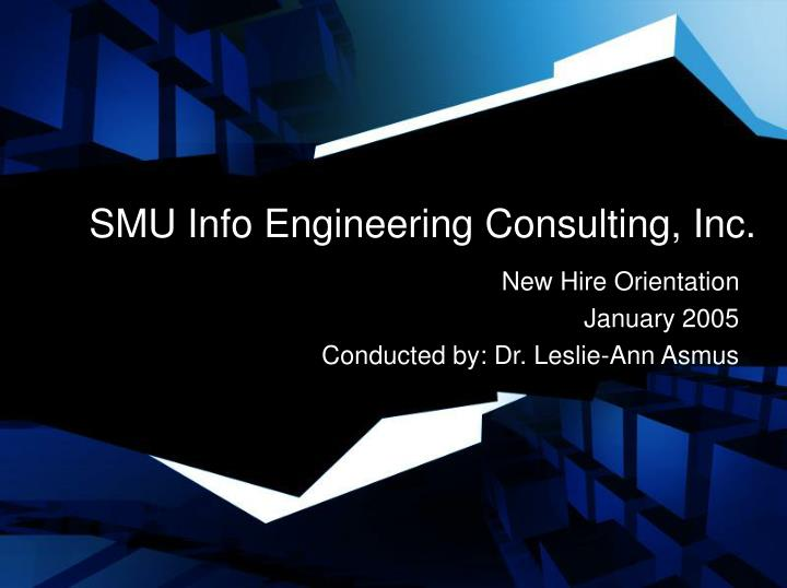 Smu info engineering consulting inc