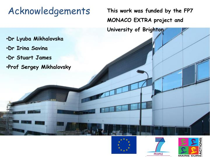 This work was funded by the FP7 MONACO EXTRA project and University of Brighton