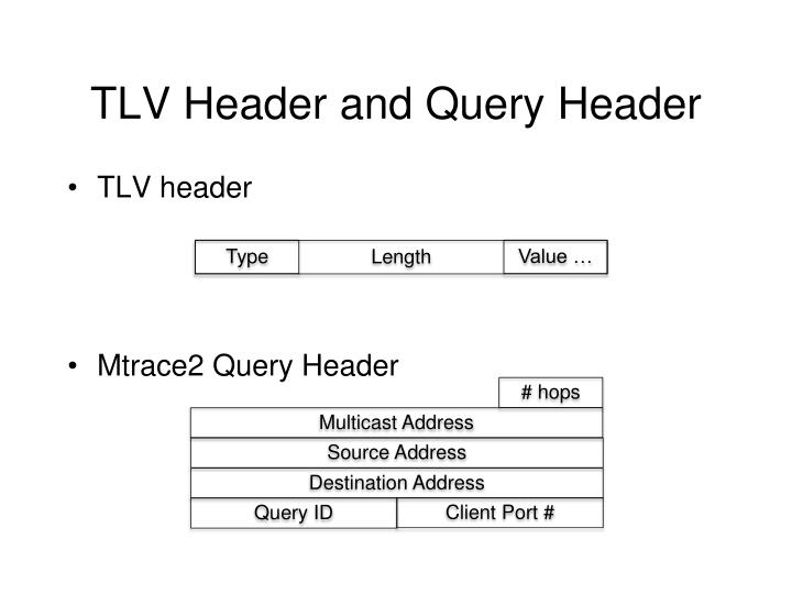TLV Header and Query Header