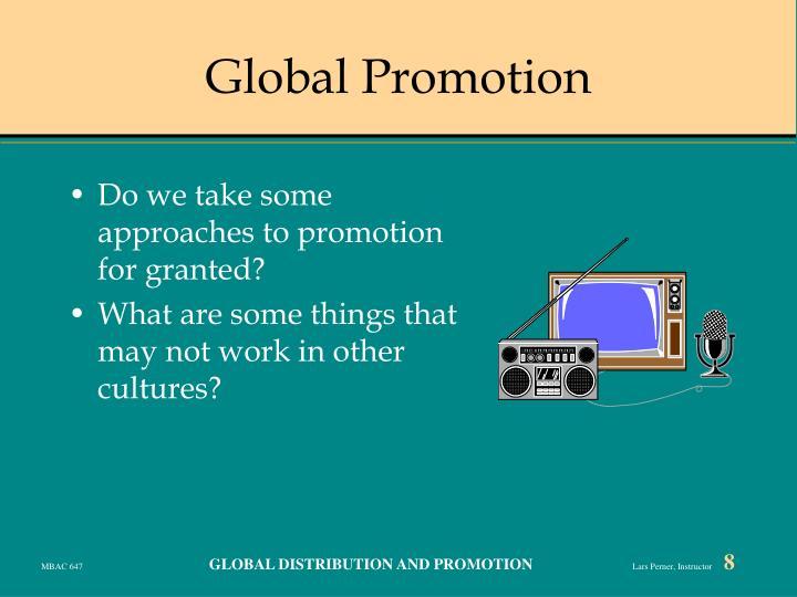 Global Promotion