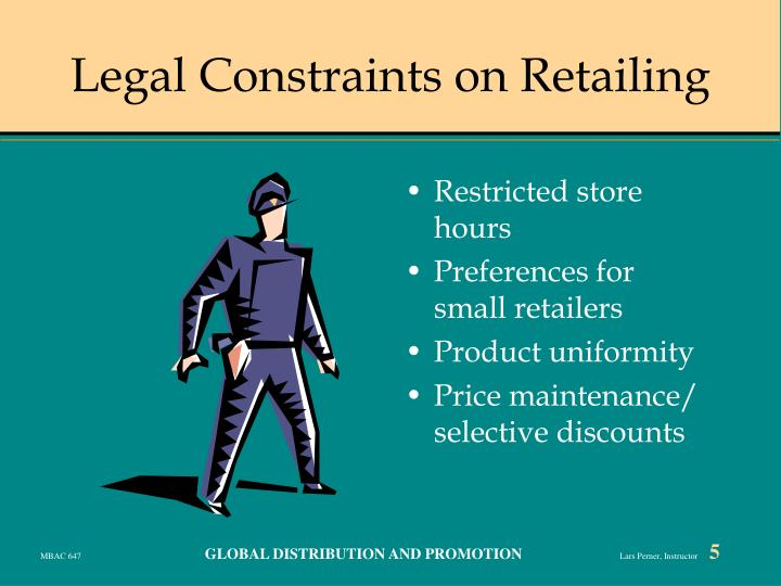 Legal Constraints on Retailing