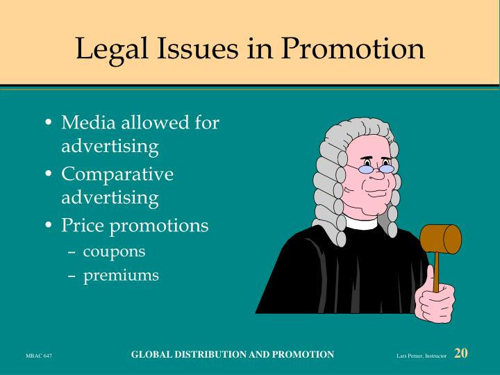 Legal Issues in Promotion