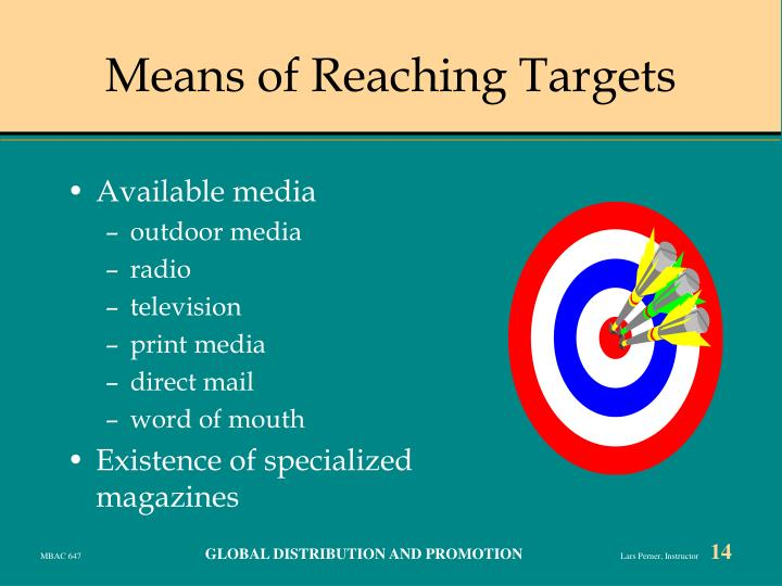 Means of Reaching Targets