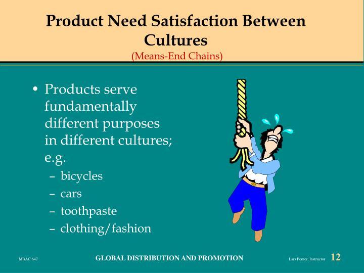 Product Need Satisfaction Between Cultures
