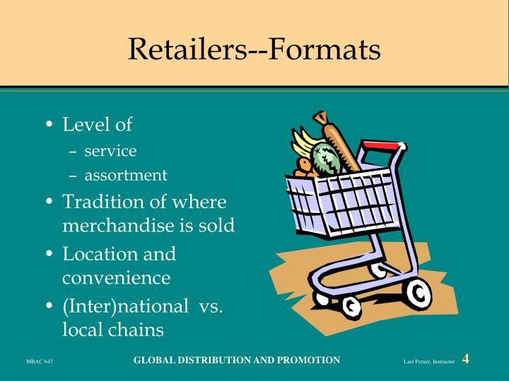 Retailers--Formats