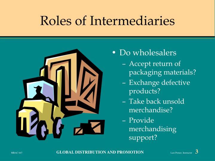 Roles of intermediaries