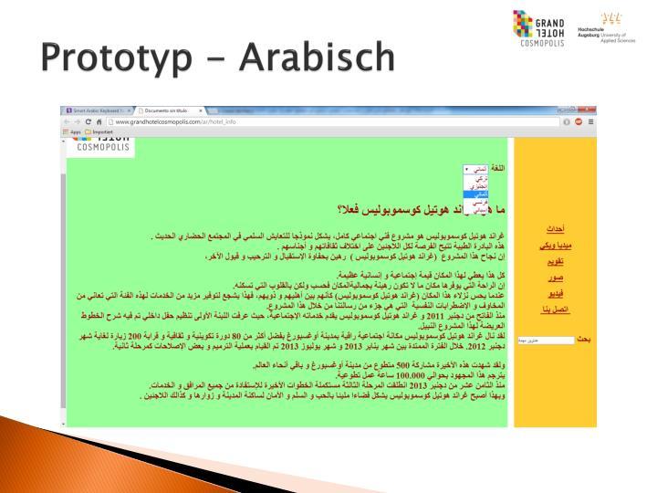 Prototyp - Arabisch