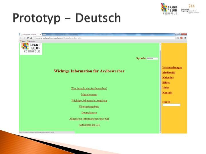 Prototyp - Deutsch