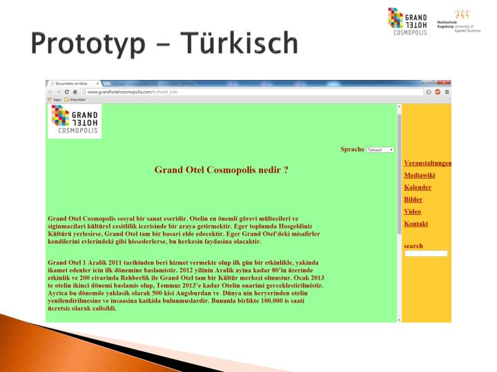 Prototyp - Türkisch