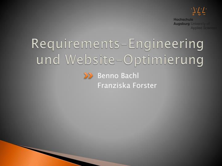 Requirements engineering und website optimierung