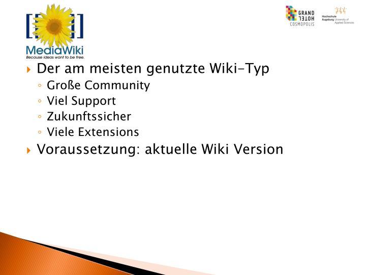 Der am meisten genutzte Wiki-Typ
