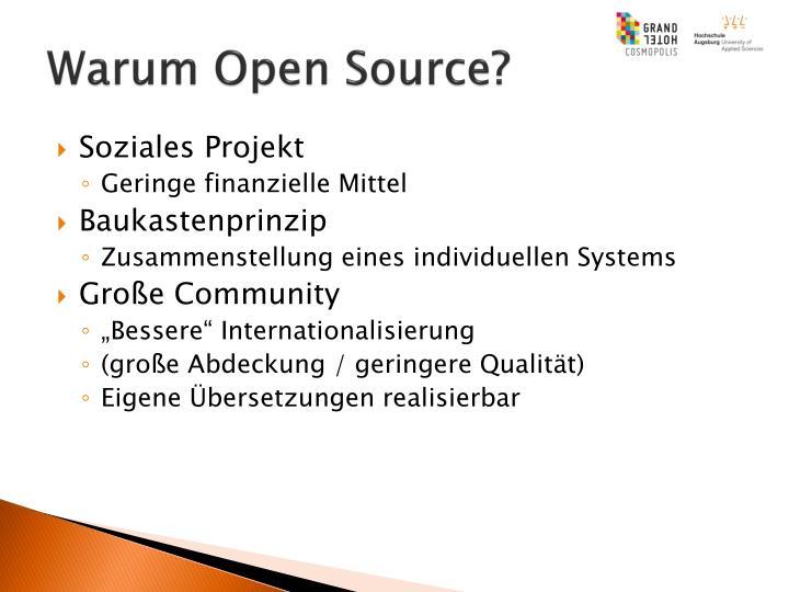 Warum Open Source?